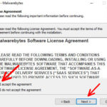 Malwarebytes license agreement