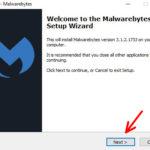 Malwarebytes installation wizard