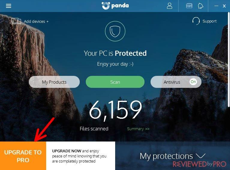 Panda Free Antivirus user manual