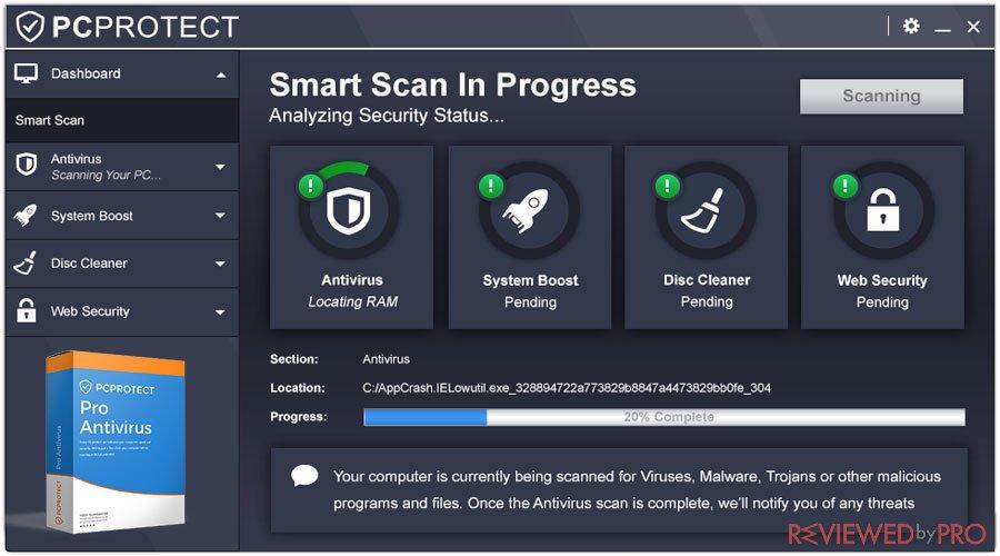 PC Protect Pro Antivirus user manual