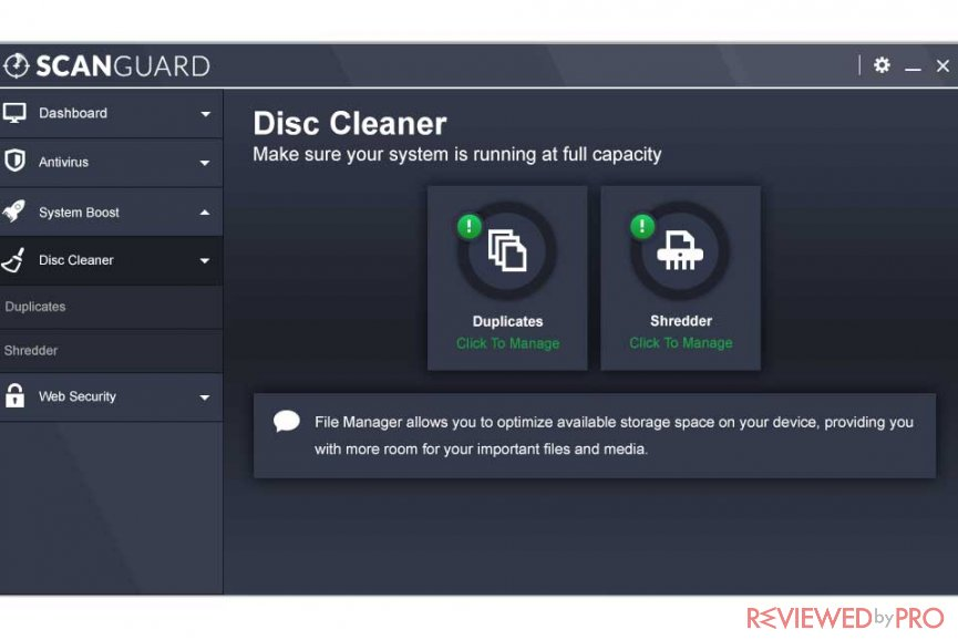 scanguard disk cleaner