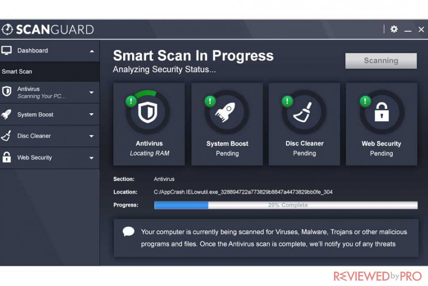 scanguard app dashboard