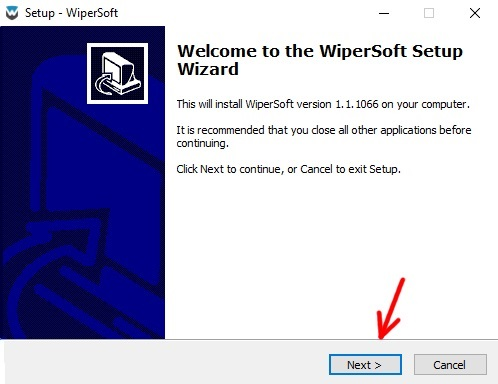 WiperSoft installation wizard