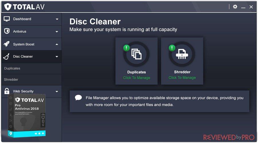 Total av disk cleaner