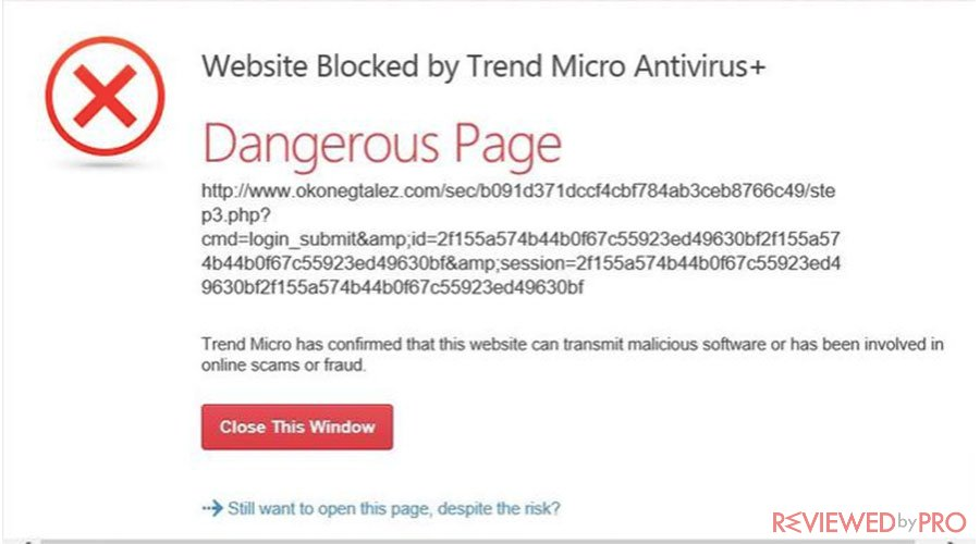 Trend Micro web protection