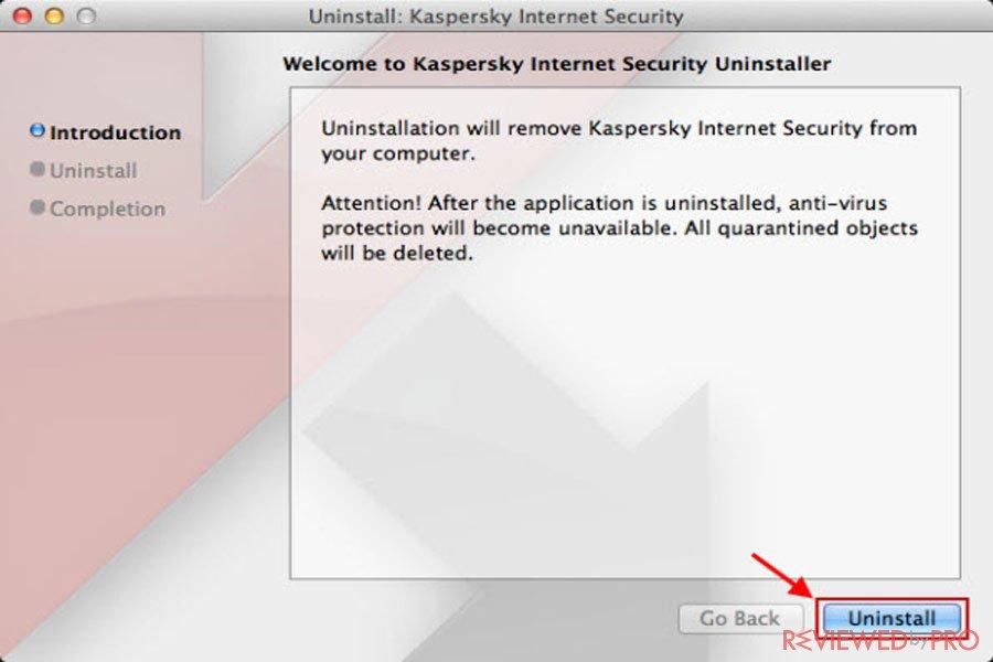 mac kaspersky antivirus uninstall